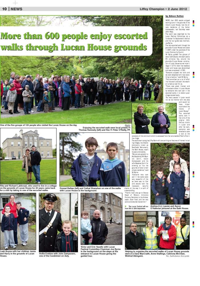 Lucan House Walk (Liffey Champion Coverage)